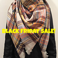 20%OFF Blanket Scarf,Plaid Scarf,Gift for her,Gift ideas,Christmas,Oversized women scarf,Zara style scarf,Blanket scarf,Blanket scarf tartan