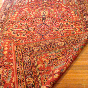 Intricate Vintage Area Rug Highly Detailed Ornate Pattern Vibrant Colors 6 x 9 Bohemian Carpet