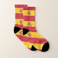 All Over Print Socks with Flag of Spain