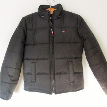 Vintage 1990s Navy Tommy Hilfiger Puffy Quilted Jacket