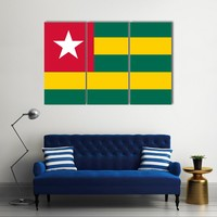 Vector Of Togo Flag Multi Panel Canvas Wall Art