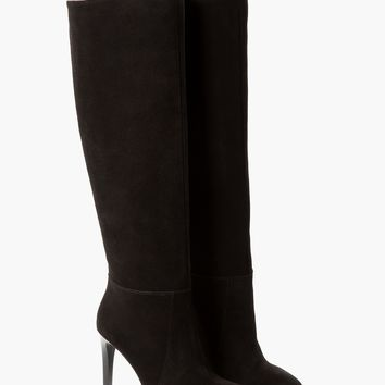 HIGH-LEG SUEDE BOOTS