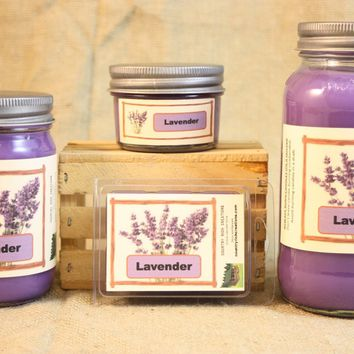 Lavender Scent Candles and Wax Melts, Flower Scent Candle Wax, Highly Scented Candles and Wax Tarts, Calming and Relaxing Scent