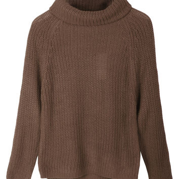 LE3NO Womens Long Sleeve Cowl Neck Knit Sweater Top