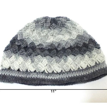 Crochet hat, Gray, Women hat, Beanie, Authentic hat, Handmade grey hat, Traditional hat, Classy, Hat for mom, Shade of grey, Flexible hat