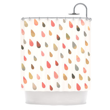 "Daisy Beatrice ""Opal Drops - Dusk"" Peach White Shower Curtain"
