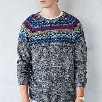O'Hanlon Mills Blocked Fair Isle Crew-Neck Sweater-