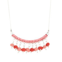 Pom-Pom Charm Necklace - Multi
