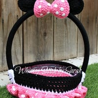Minnie Mouse Basket -- Halloween or Easter -- Made to Order