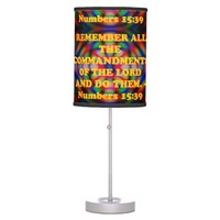 Bible verse from Numbers 15:39. Desk Lamp