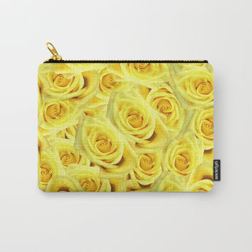 Candlelight Roses Carry-All Pouch by deluxephotos