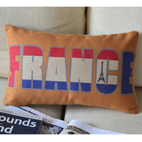 France Print Decorative Pillow [079] : Cozyhere