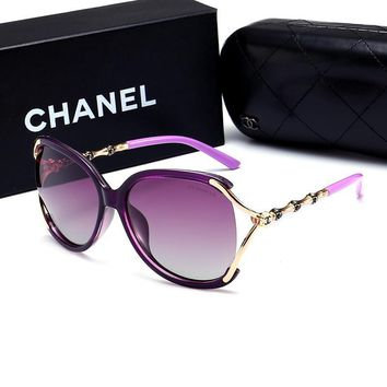 CHANEL Personality Fashion Popular Sun Shades Eyeglasses Glasses Sunglasses B-A50-AJYJGYS Pink One-nice™