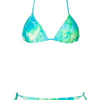 Tye Dye Triangle Bikini - Swimwear - Clothing - Topshop USA
