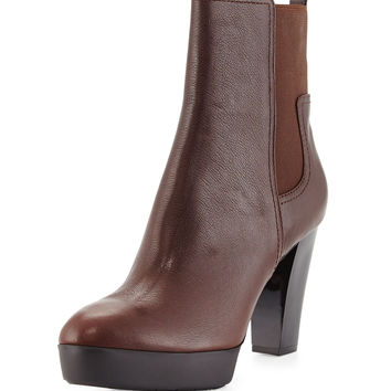 Milan2 Leather Bootie, Expresso - Donald J Pliner