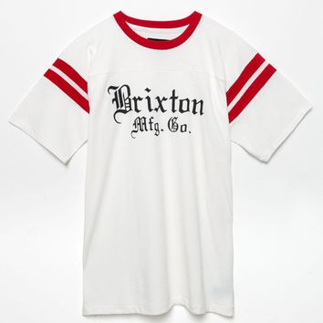 Brixton Vincent Knit T-Shirt - Mens Tee - White