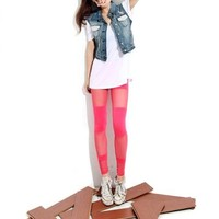 Footless Legging Tregging Tight Fft005pnk One Size Pink