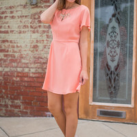 Passion For Perfection Dress, Peach