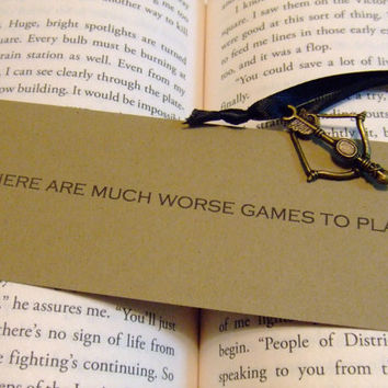 Much Worse Games To Play - Hunger Games Mockingjay Quote Bookmark by prettypetalspaper