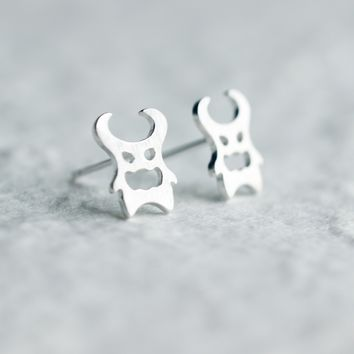 Personality Ox demon king 925 sterling silver earrings,a perfect gift