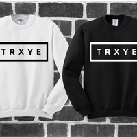 TRXYE Sweater Men Or Women , Black or White , Unisex Size