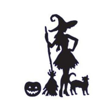 Halloween Metal Cutting Dies Witch/broom/pumpkin/cat Stencils for DIY Scrapbooking/photo album Decor Embossing DIY Paper Cards