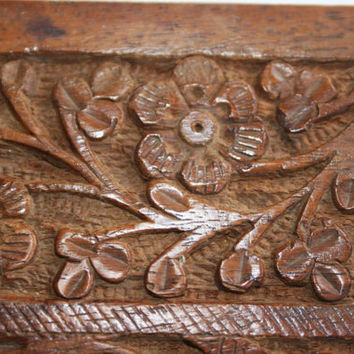 Ornamental Carved Wooden Box For Your Trinkets And Treasures...Gift for those that love something vintage and collectible.