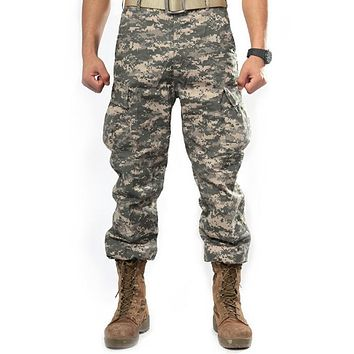 Men's Military Style Camouflage Cargo Pants
