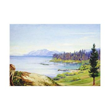 Lake Tahoe and Nevada Mountains, California Canvas Print