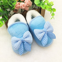 Top Selling for Lovely Winter Baby Boys Girls Warm Plush Boot Infant Soft Bootie Crib Shoes