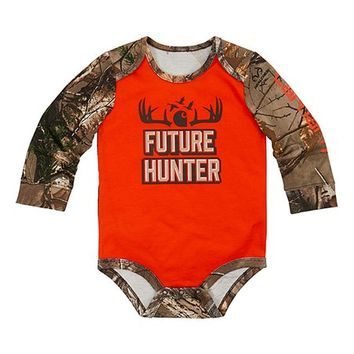 Carhartt Blaze Orange & Realtree Xtra® 'Future Hunter' Bodysuit - Infant