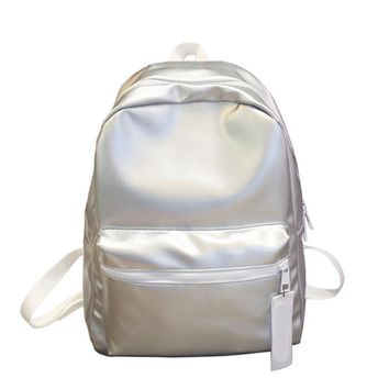 Silver Metallic Holographic Backpack