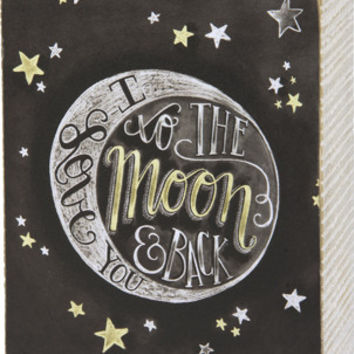 Wooden Box Sign - Love You To The Moon & Back