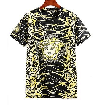 VERSACE Newest Popular Casual Print T-Shirt Top Blouse