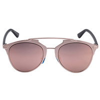 Rose Gold Mirror Lens Retro Sunglasses