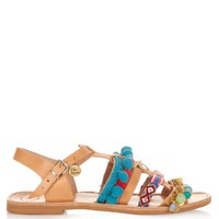Maude embellished leather flat sandals | Elina Linardaki | MATCHESFASHION.COM US