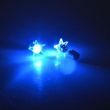 Fashion Dance Party Accessories Light Up LED Bling Stud Earrings