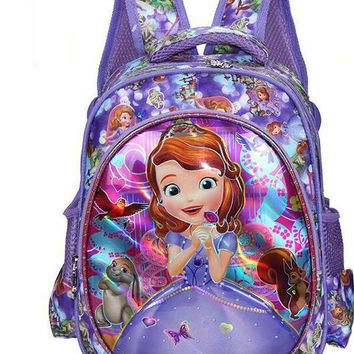 Lovely Cartoon Sofia the First Pattern Backpack Children Kid School Bag Girls Bags Nylon Backpacks Kids SchoolBags