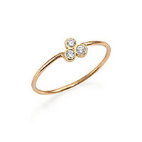 Zoe Chicco - Diamond & 14K Yellow Gold Three-Bezel Ring - Saks Fifth Avenue Mobile