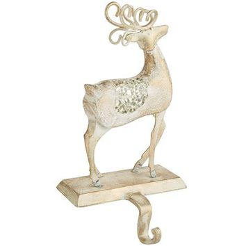 Reindeer Mosaic Stocking Holder