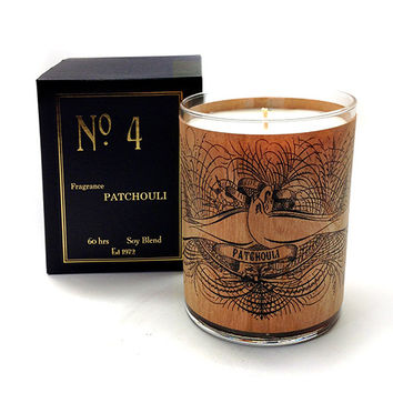 Wood Candle No. 4 Patchouli