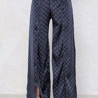 Slip Up Geometric Pants