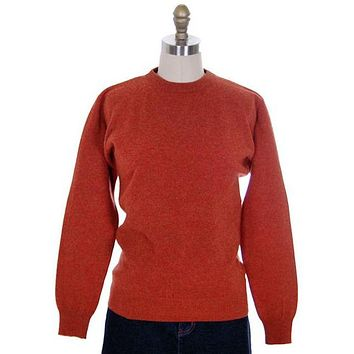 Vintage Sweater Cashmere 2ply Lord &Taylor Rust Color M 1980s