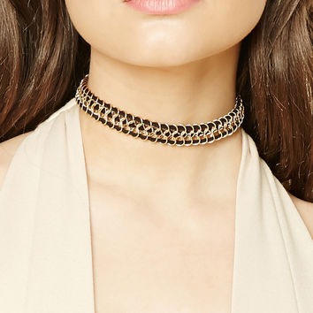 Faux Suede Cable Choker