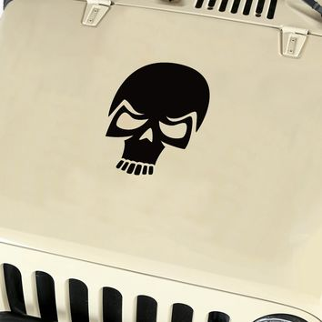 Skull Hood Body Vinyl Decal Sticker (19) fits: Jeep Wrangler JK TJ YJ