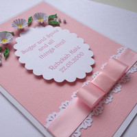 Christening, Confirmation or Birthday Quilled Card. Customise with any name or date