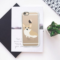 Corgi Dog (Clear) iPhone 7 Case by Cassandra Berger | Casetify
