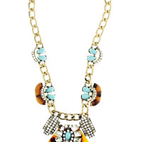 Turquoise and Tortoise Statement Necklace