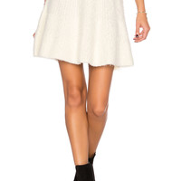 Lovers + Friends Be Flirty Skirt in Ivory