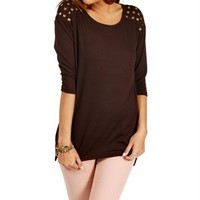 Chocolate Short Studded Top